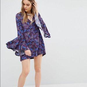 Free people magic mystery dress tunic floral boho